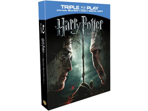 Hatty Potter and the Deathly Hallows Blu-Ray and DVD pack shot