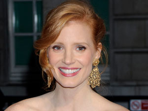 The Tree of Life star Jessica Chastain poses