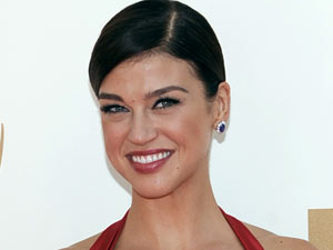 Adrianne Palicki on the red carpet at the 63rd Primetime Emmy Awards