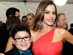 Rico Rodriguez, left, and Sofia Vergara
