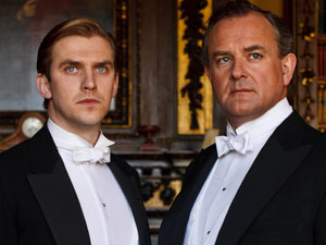Matthew Crawley and Earl of Grantham in Downton Abbey S02E02