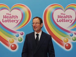 Richard Desmond's Health Lottery launch