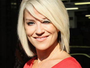 Zoe Lucker leaves the ITV Studios after appearing on 'This Morning'
