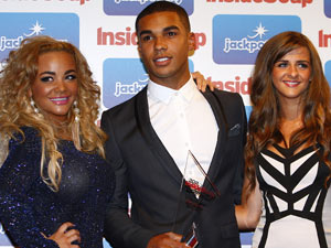Chelsee Healey, Lucien Laviscount and Rebecca Ryan - with the Best Drama prize for Waterloo Road