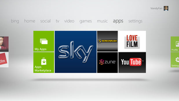iPlayer LoveFilm Xbox 360 dashboard