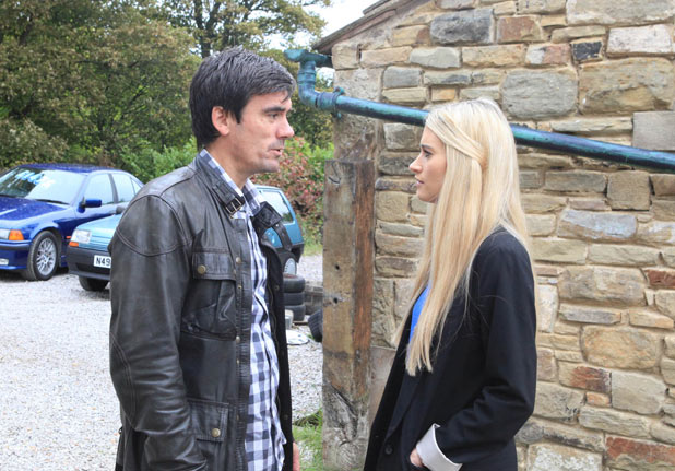 Debbie tells Cain to leave the village if he carries on with his behaviour