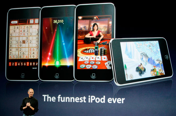 The release of the iPod touch