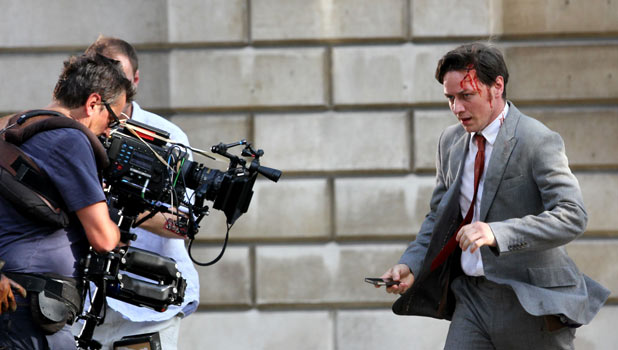 James McAvoy filming