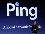 Steve Jobs talks about Ping, a new social network for music at a news conference in San Francisco, 2010