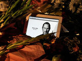 A shrine to Steve Jobs at Apple's California headquarters