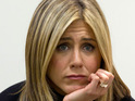 Jennifer Aniston says she became angry when a director talked down to his crew.