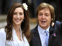 The Beatles star ties the knot for a third time at an intimate ceremony in Marylebone.