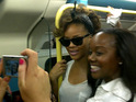 Rihanna releases footage of her journey on the London Underground last month.