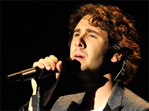 American singer/songwriter Josh Groban performs live at Amsterdam&#39;s Heineken Music Hall, Holland