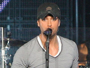 Enrique Iglesias performing live at the Staples Center Los Angeles, California