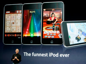 Steve Jobs gives a talk on the release of the iPod Touch in 2008
