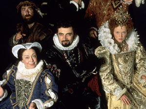 Blackadder, Nursie and Queenie in Blackadder II
