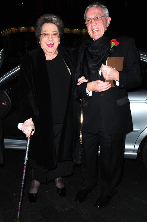 Betty Driver at the 'Coronation Street' 50th Anniversary Ball in 2010.