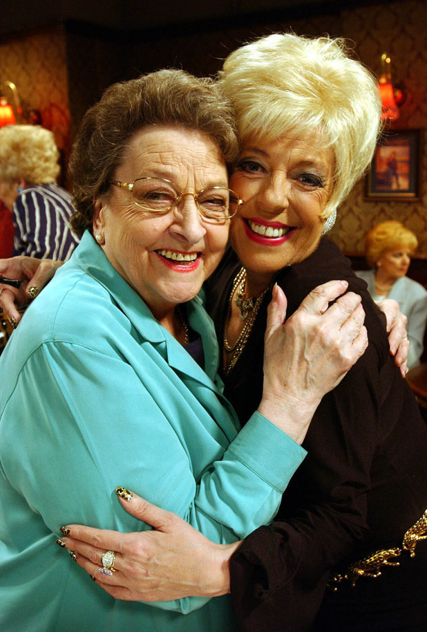 Betty with Corrie co-star Julie Goodyear