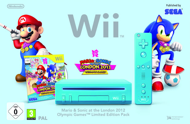 Mario & Sonic at the London 2012 Olympic Games blue Wii bundle
