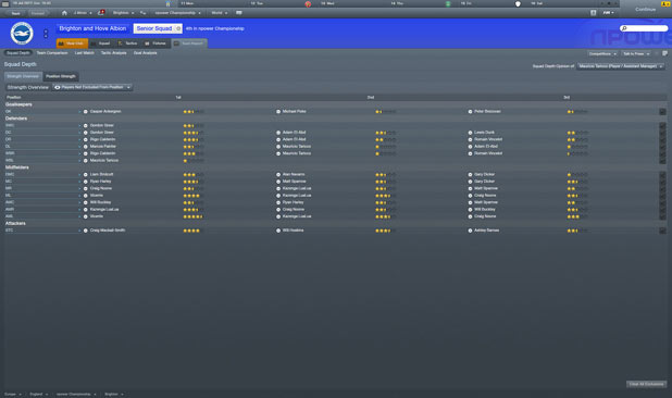 Football Manager 2012 - Team Report Dark