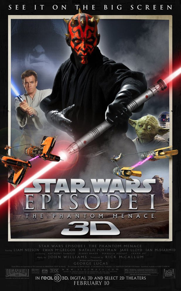 Star Wars 3D Movie Poster