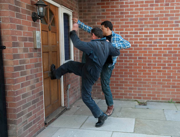 Kevin and Jason break into the flat worried about Rosie