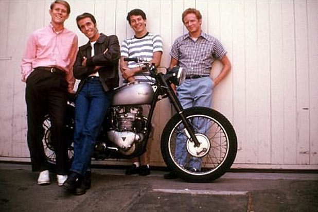 Fonzie's motorbike in 'Happy Days'