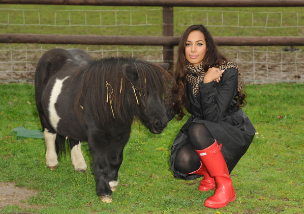 Leona Lewis with a pony