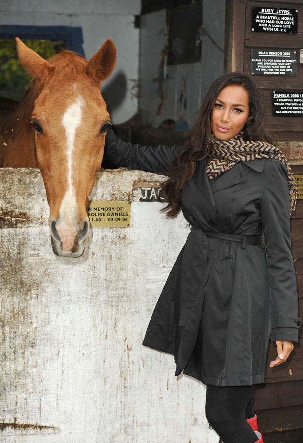 Leona Lewis with a horse