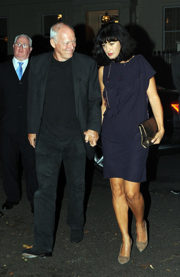 David Gilmour and his wife Polly Sampson