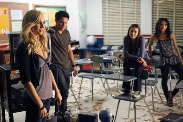 Caroline, Tyler, Elena and Bonnie