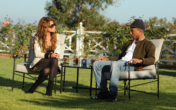 Paula Abdul and guest judge Pharrell