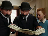 Tintin and the Thompson Twins in The Adventures of Tintin