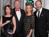 The cast of The Killing at the Crime Thriller Awards