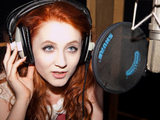 Janet Devlin recording 'Wishing On A Star' the X Factor charity single