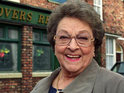 Family, friends and fans gather for the funeral of Coronation Street star Betty Driver.