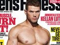 Click in to see Kellan Lutz shirtless on the cover of Men's Fitness.