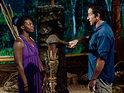 Christine and Stacey do battle on Survivor: Redemption Island.