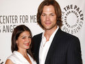 The Supernatural star announces on Twitter his wife Genevieve has given birth.
