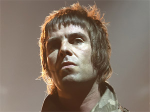 Liam Gallagher of Beady Eye performs with the band in Padova, Italy