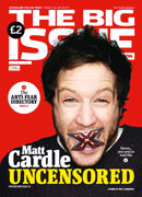 Matt Cardle on the cover of 'The Big Issue'