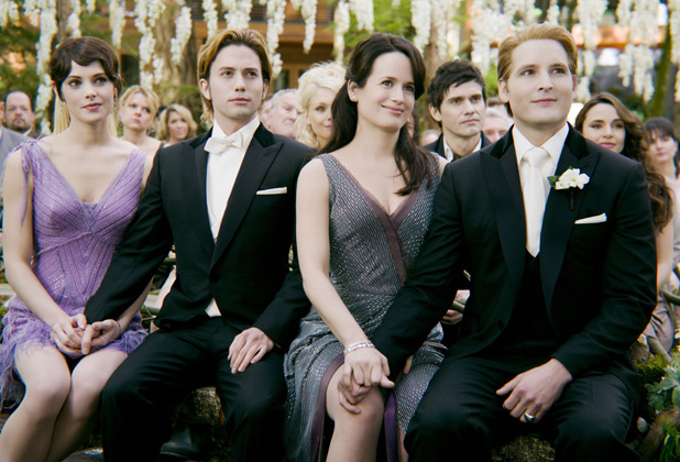 The Cullens at the wedding