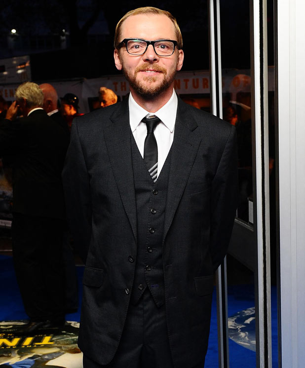 The Adventures of Tintin: Secret of the Unicorn Premiere - Simon Pegg