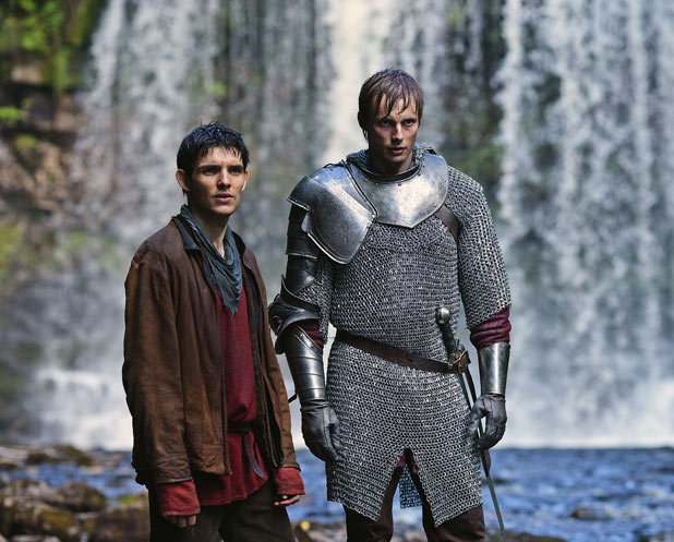 Merlin (COLIN MORGAN), Prince Arthur (BRADLEY JAMES)