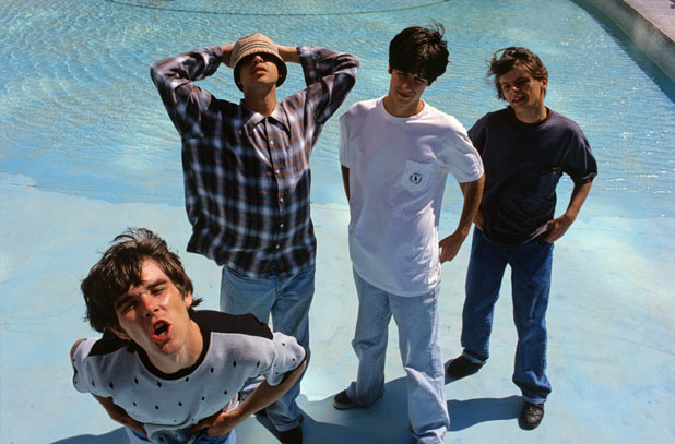 The Stone Roses in a promotional shoot