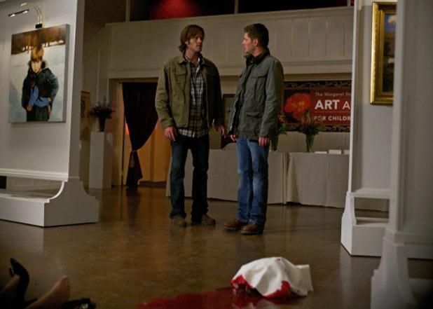 Jared Padalecki as Sam and Jensen Ackles as Dean