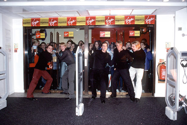 Westlife open the new Virgin megastore