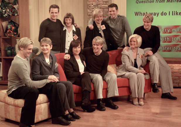 Westlife reunited with their mothers