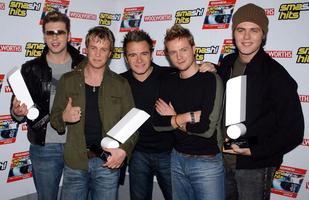 Westlife with awards for the Best Band on Planet Pop